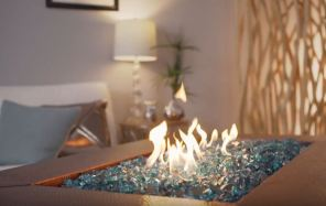 gas fire pit glass