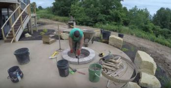 how to build a fire pit patio