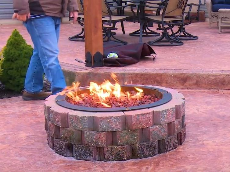 Own design of fire pit