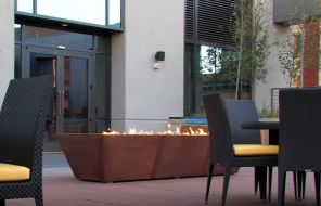 outdoor gas fire pit sets