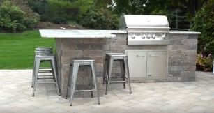 outdoor kitchens island