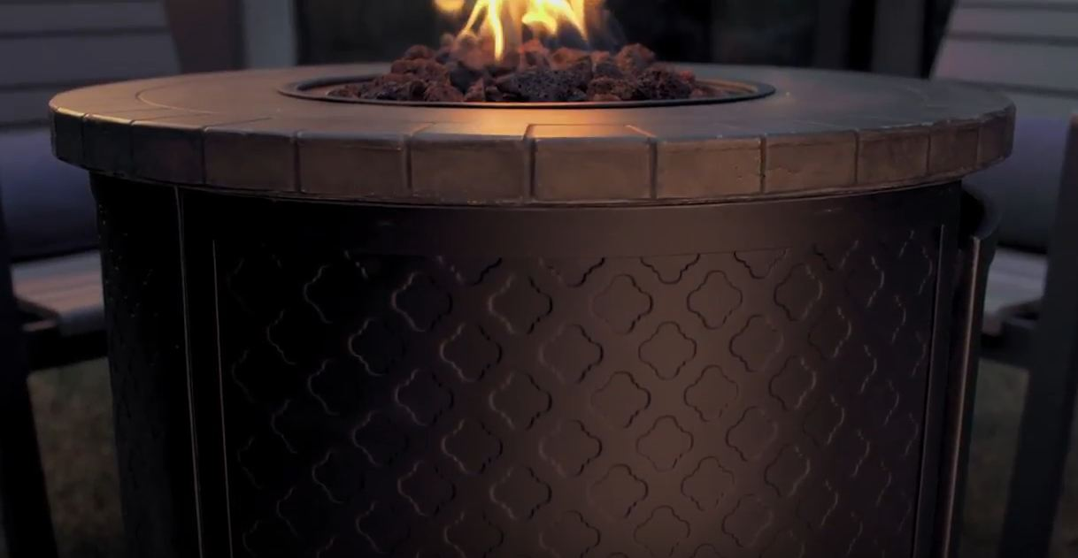 patio furniture with fire pit table