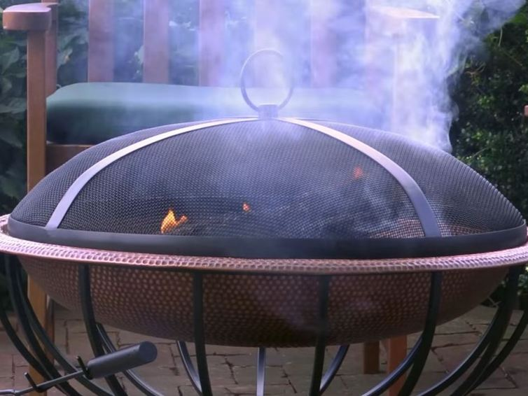 Fire pits with barbecue option.