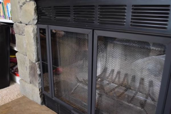bifold fireplace doors