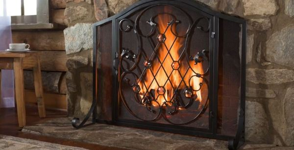 cheap fireplace screens