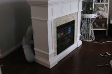 fake fireplace diy