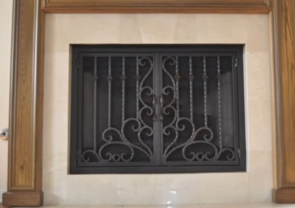 fireplace doors and screens photo