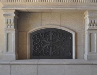home depot fireplace doors