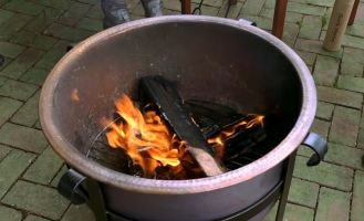 homemade fire pit burner