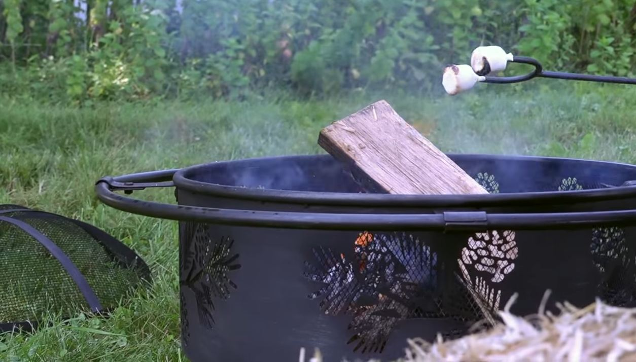 homemade fire pit metal