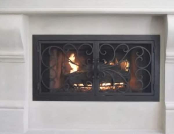 iron fireplace doors