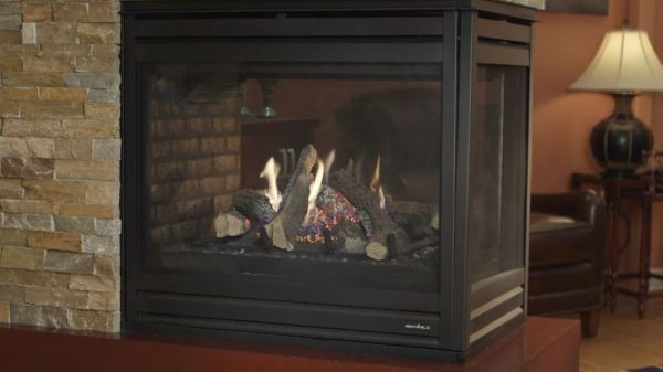 linear fireplace design