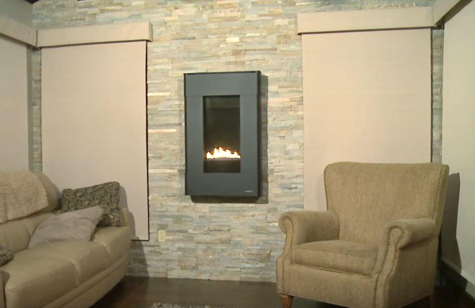 living room fireplace design
