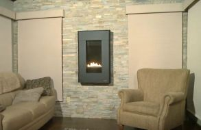 living room fireplace design