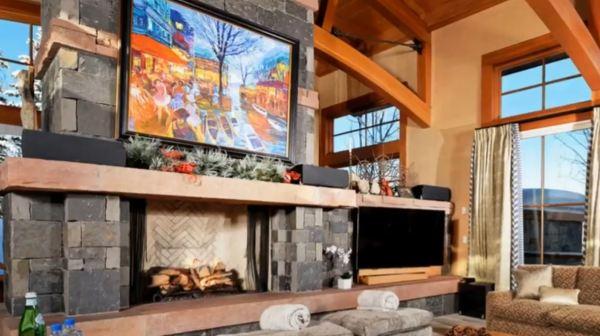 modern fireplace wall design