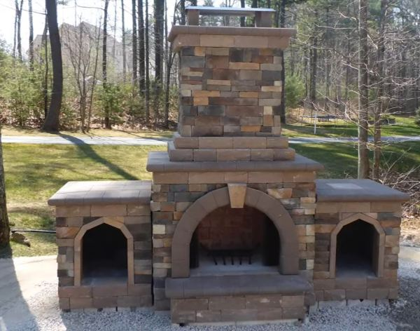 outdoor fireplace kits for sale