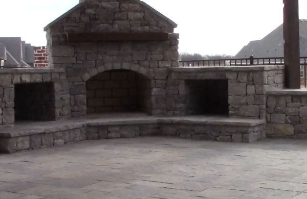 outside fireplace designs