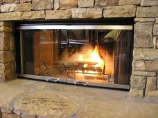 fireplace glass doors cheap_23