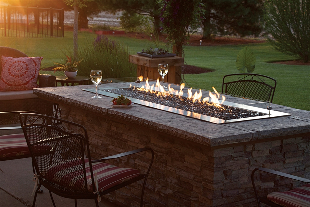 white mountain hearth by empire outdoor linear gas firepit 60