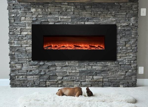 best wall mount electric fireplace - Garibaldi Heating 50 inch Electric Wall Mounted Fireplace