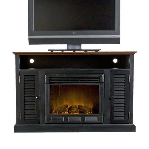 best electric fireplace tv stand Reviews-SEI Antebellum Media Console with Electric Fireplace