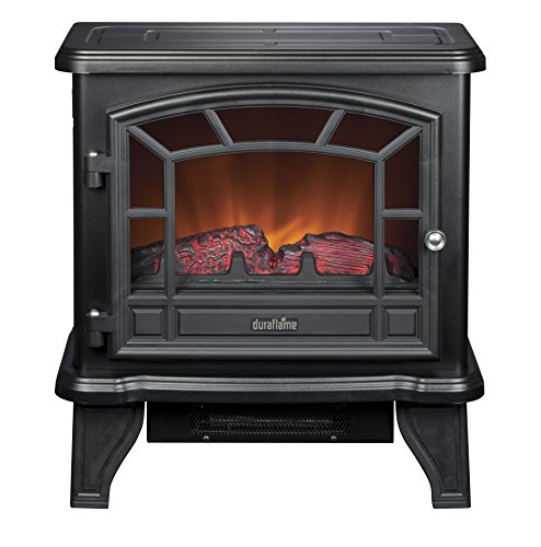 Best Electric fireplace stove reviews -Duraflame DFS-550-21-BLK Maxwell Electric Stove with Heater, Black