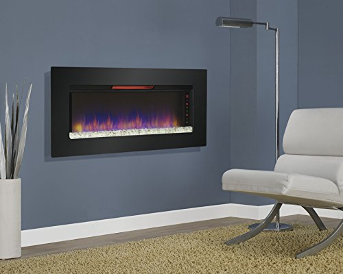 "Best wall mount electric fireplace - Classic Flame 47II100GRG Felicity 47"" Wall Mounted Infrared Quartz Fireplace"