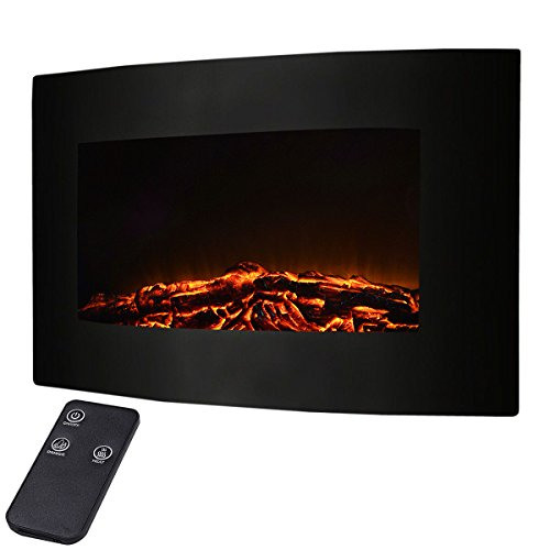"Best wall mount electric fireplace - Giantex 35"" Xl Large 1500w Adjustable Electric Wall Mount Fireplace"