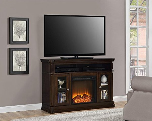 Ameriwood Brooklyn Electric Fireplace TV Console Review - Durability and Affordability of the Ameriwood Brooklyn Fireplace TV Console