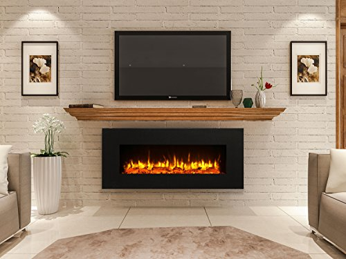 "PuraFlame Serena 50"" Wall Mounted Linear Electric Fireplace Review"