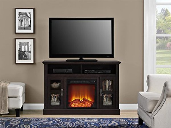 Ameriwood Brooklyn Electric Fireplace TV Console Review - Compare With Ameriwood Chicago Fireplace TV Console VS Ameriwood Brooklyn Electric Fireplace TV Console