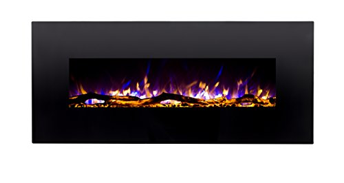 Regal Flame Ashford Review - 50 Inch Black Ventless Heater Electric Wall Mounted