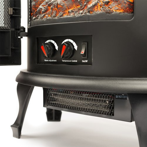 Key Features of the Regal Curved Free Standing Electric Fireplace Stove