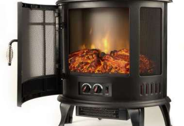 Regal Curved Portable Free Standing Electric Fireplace Stove Review