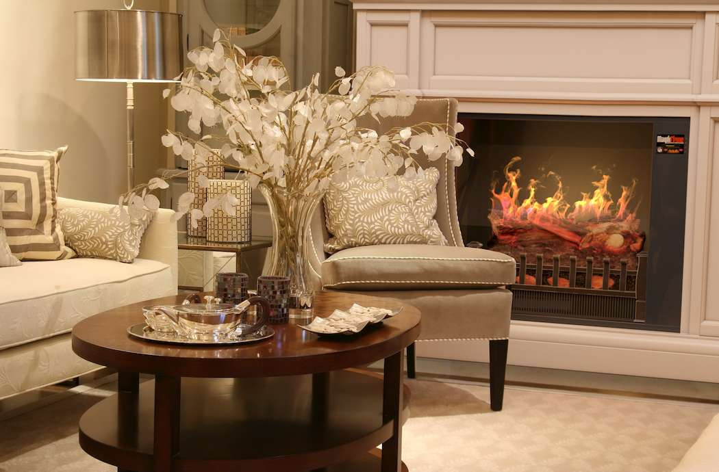 "Best wall mantel electric fireplace - Appearance of the MagikFlame 28"" HoloFlame Artemis Wall Mantel Electric Fireplace"