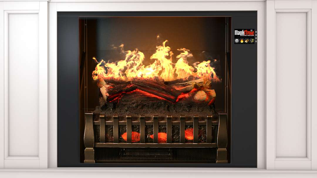 """Best wall mantel electric fireplace - MagikFlame 28"""" HoloFlame Artemis Wall Mantel Electric Fireplace Performance"""