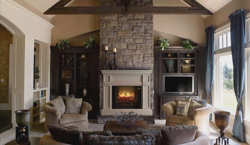 "Best wall mantel electric fireplace - MagikFlame 28"" HoloFlame Artemis Wall Mantel Electric Fireplace"