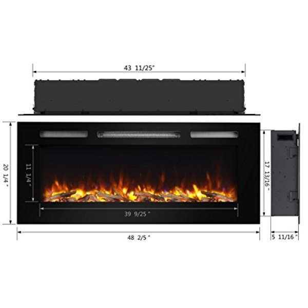 PuraFlame Alice Recessed Wall Mounted Electric Fireplace Review - What Users are Saying about the PuraFlame Alice Recessed Electric Fireplace