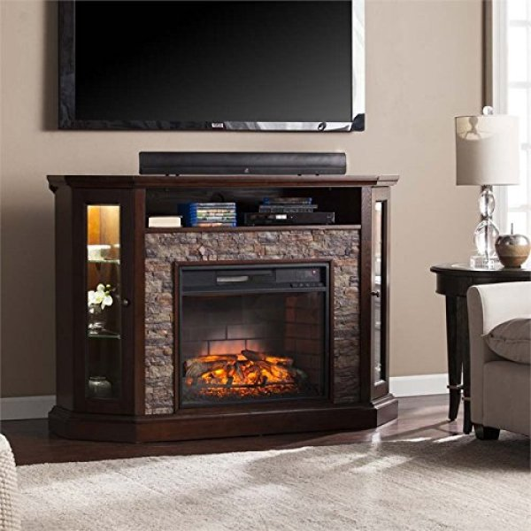 What's the disadvantage of Southern Enterprises Redden Corner Electric Fireplace TV Stand?