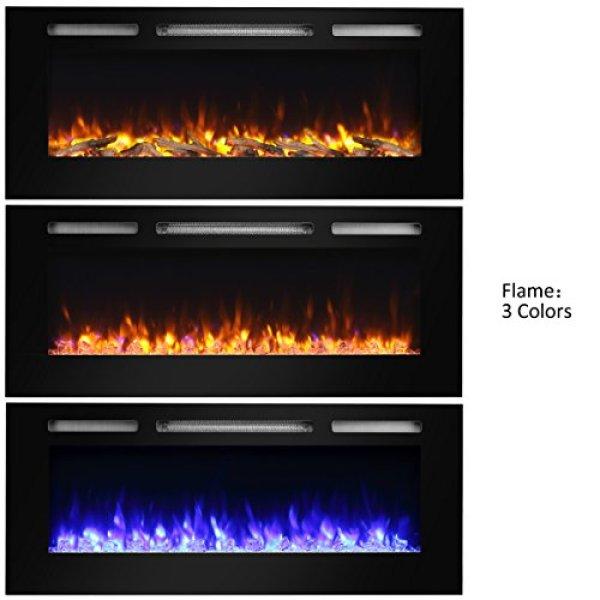 ComparePuraFlame Alice Recessed Electric Fireplace vs.TANGKULA Wall Mount Recessed Electric Fireplace