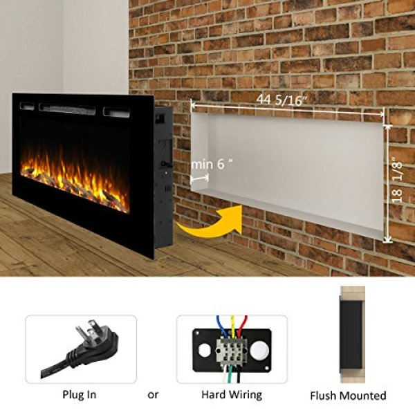 Compare with PuraFlame Alice Recessed vs Innoflame Wall Mounted Electric Fireplace