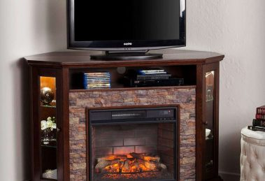 Southern Enterprises Redden Corner Electric Fireplace TV Stand Review