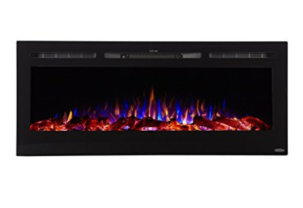 Best wall mount electric fireplace 2018: Touchstone Sideline Recessed Mounted Electric Fireplace