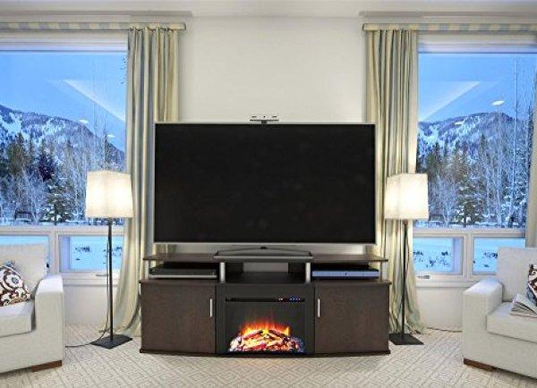 Compare Altra Furniture Carson Fireplace TV Console vs. SEI Antebellum Media Console