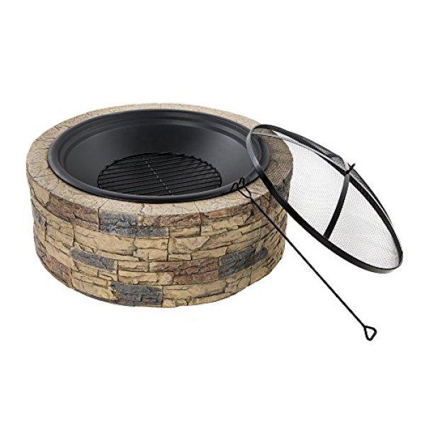 What's the Disadvantage of Sun Joe SJFP35-STN Cast Stone Fire Pit