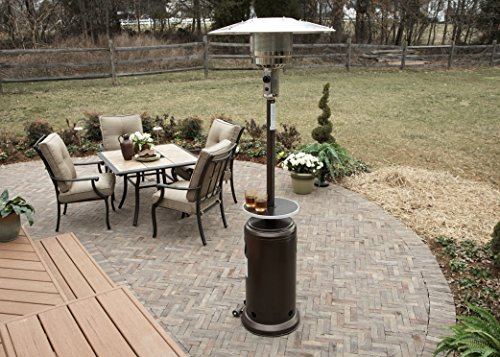Compare AZ Patio Heaters HLDS01-WCGT Tall Patio Heater vs. Tall Resin Wicker Patio Heater Table