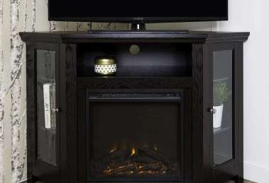 WE Furniture Corner TV Stand Fireplace Console Review