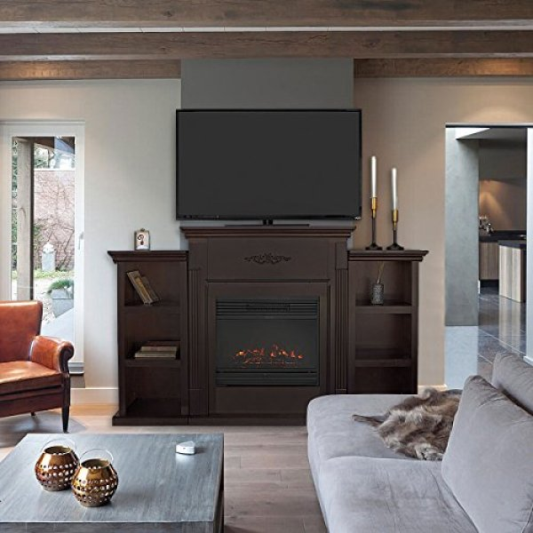 Best electric fireplace tv stand 2018: XtremepowerUS Portable Electric Fireplace TV Stand