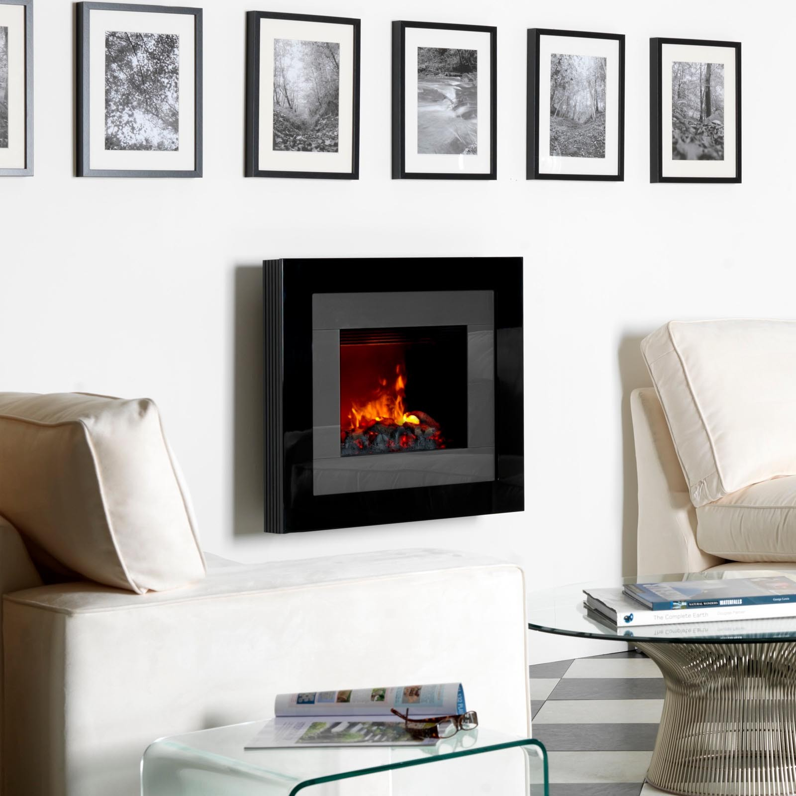 Classy Modern Dimplex Redway Wall Mounted Black Electric