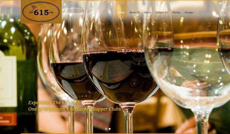 The 615 Club Wisconsin Supper Club Restaurant Website Design  Beloit Wisconsin Tourism Firepoint Media